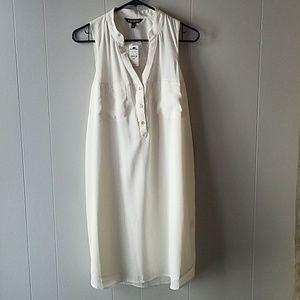 NWT Express Sleeveless Shirt Dress Size M